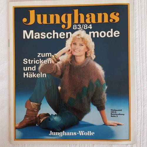 Vintage Junghans Maschenmode 83/84  Vorschläge zum Stricken und Häkeln