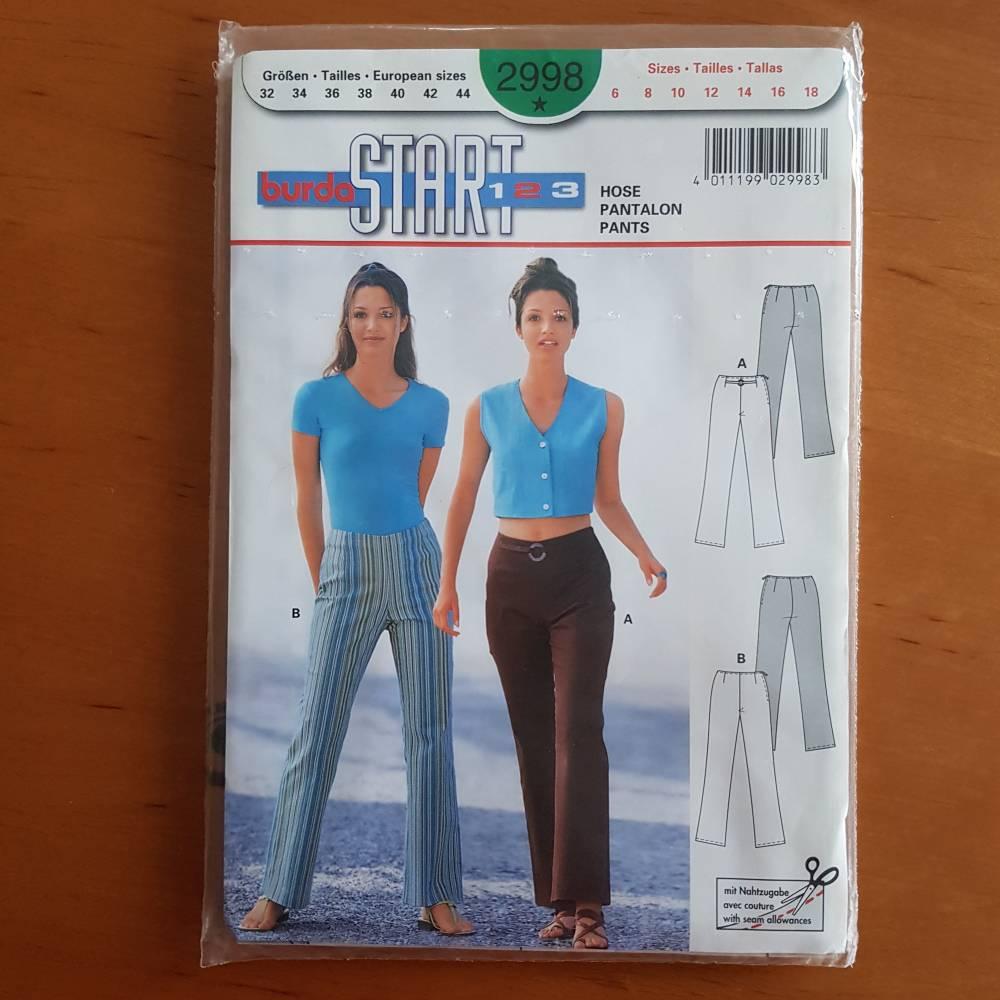 Vintage Schnittmuster burda START 123 Hose, Pantalon, Pants Größen 32-44  Bild 1