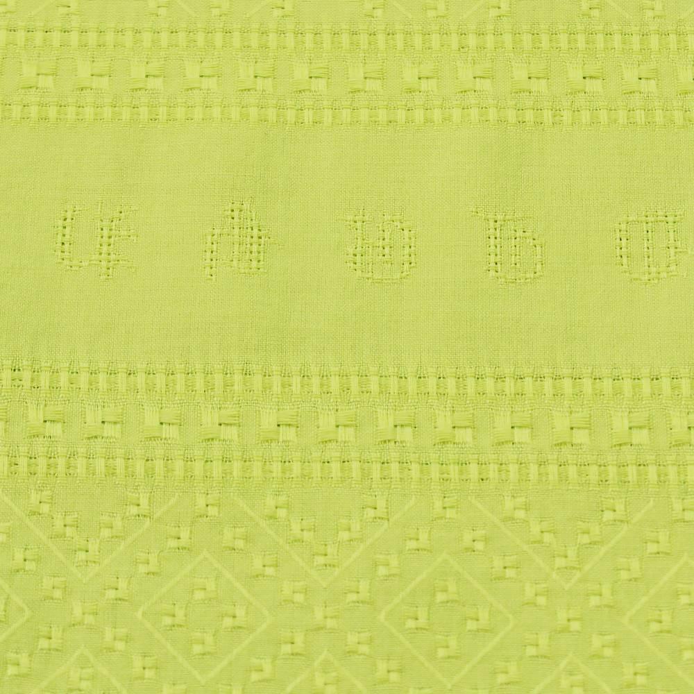 Baumwollstoff gemustert uni leichte Sommerstoffe Neongelb Bild 1