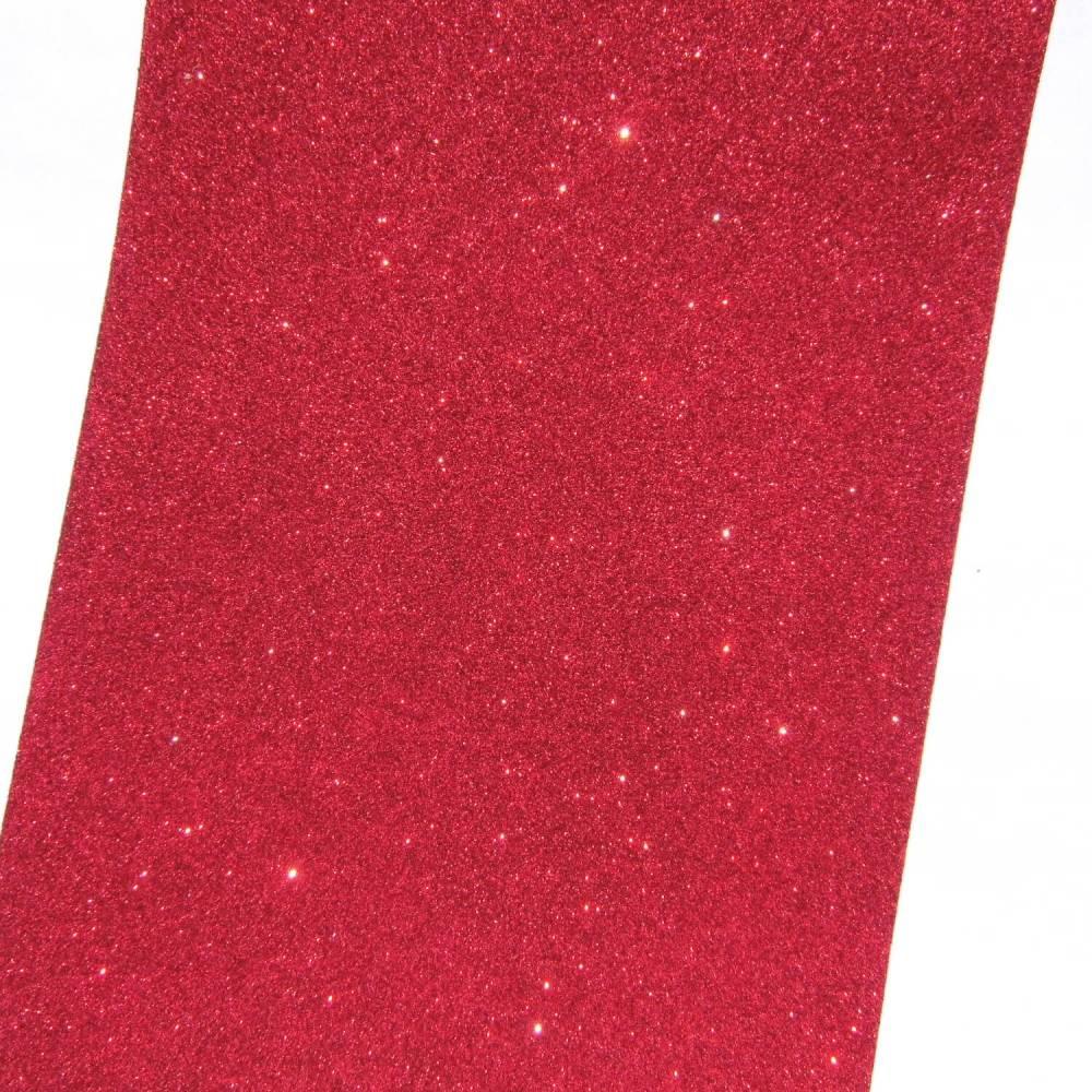 Moosgummi Glitter rot 200 x 300 x 2 mm Bild 1