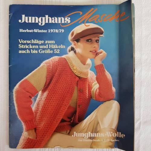 Vintage Junghans Herbst/Winter 1978/79 Vorschläge zum Stricken und Häkeln auch bis Größe 52