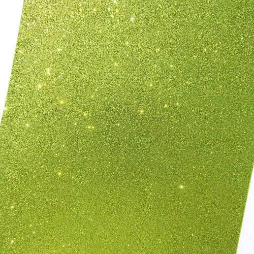 Moosgummi Platte Glitter hellgrün 200 x 300 x 2 mm