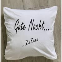 """Kissen mit der Aufschrift """"Gute Nacht"""" Bild 1"""