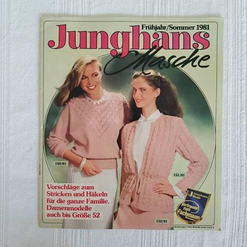 Vintage Junghans Frühling/Sommer 1981 Vorschläge zum Stricken und Häkeln Damenmodelle auch bis Größe 52