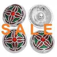 SALE! Druckknopf,  Button, Druckknopfbutton,Gr. L, Metall , Emaille mit Strass, statt 4,99 Euro jetzt 1,99 Euro Bild 1