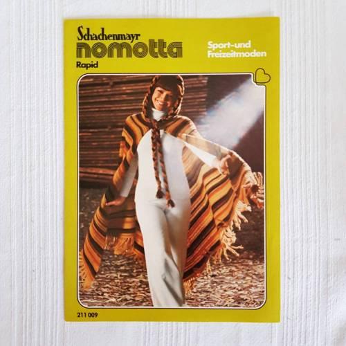 Vintage  Häkelanleitung Poncho, Körpergröße 165 bis 170 cm, Schachenmayr nomotta