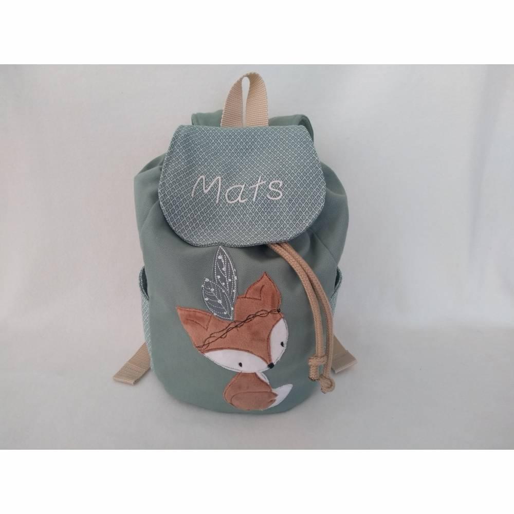 Kindergartentasche Kinderrucksack Boho Fuchs Kinderrucksack 2-6 Jahre  personalisiert mit Name Bild 1