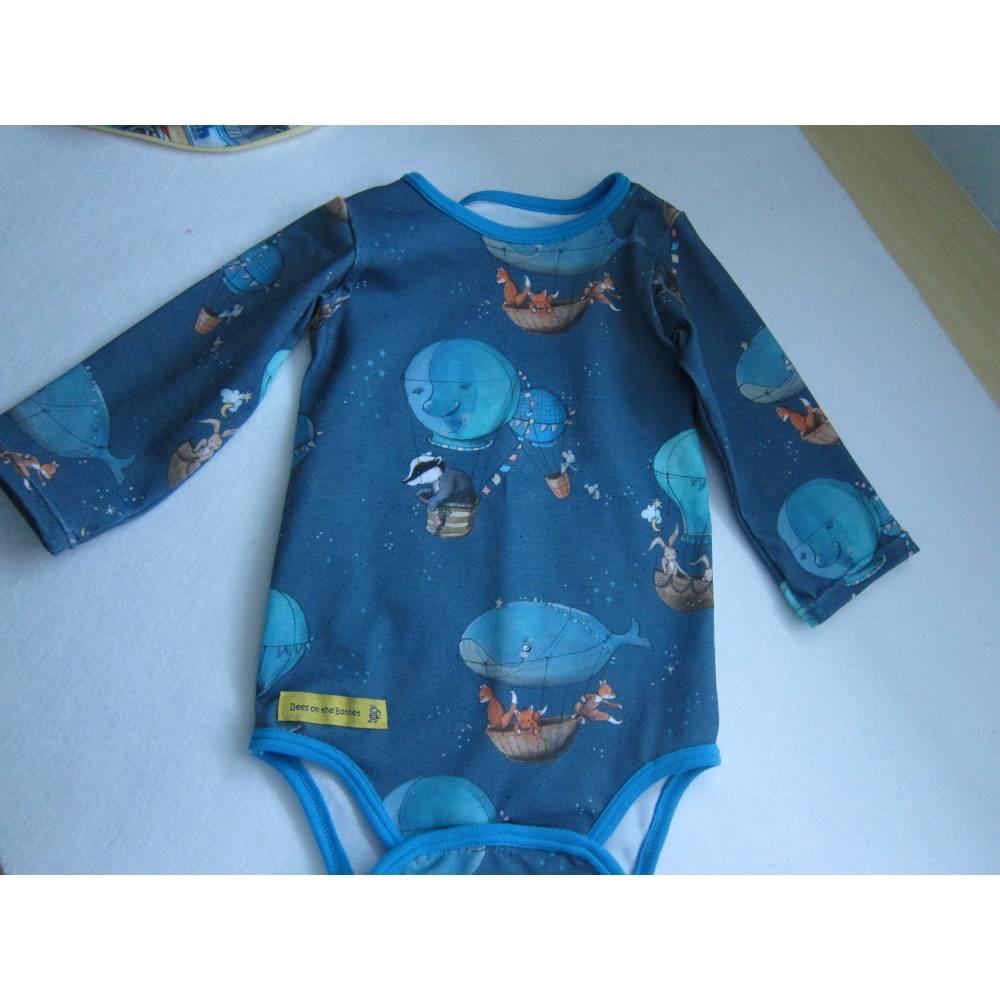 Langarm Baby Body Up-Up-and-Away organischer Jersey Gr 62-68. Bild 1