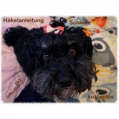 Häkelanleitung Haarschleife für euren Hund