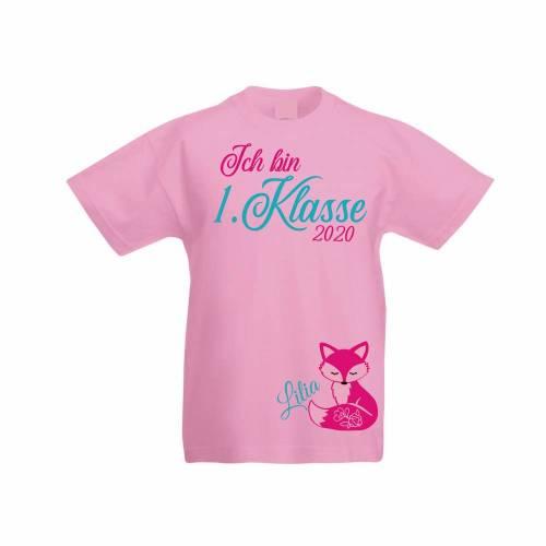 T-Shirt zur Einschulung  Schulkind erstklassig mit Name