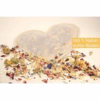 Blüten Konfetti Blütenmix Saison Hochzeit Streublumen in Herzform - Das umweltfreundliche Konfetti Bild 1