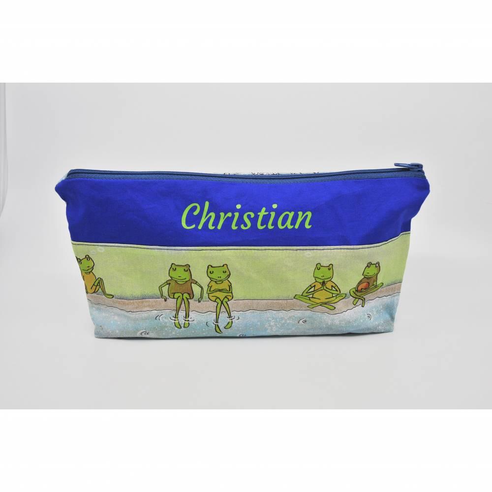 Kulturbeutel mit Fächern, Windeltasche, Wickeltasche, Kulturtasche für Kinder, waschbar, personalisierbar, Kindertasche, Täschchen Bild 1