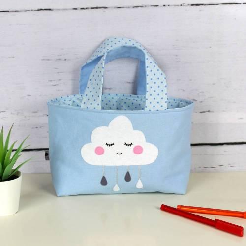 Kindertasche ~ Wölkchen | Wendetasche | Personalisiert | Geschenke für Kinder | Mädchen | Junge