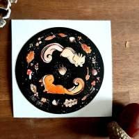 Eichhörnchen Sticker -  Aufkleber -  Eicheln Herbst Bild 1