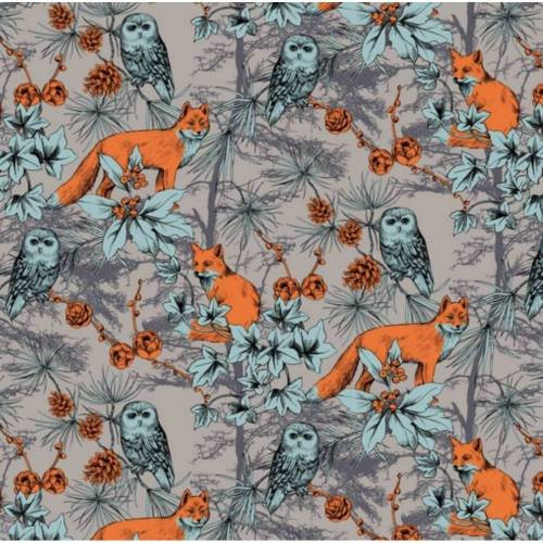 0,5 m DIGITAL FOREST Jersey, grau - orange - mint