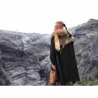Schwarzes Haarband - Ragnar Loðbrók Vikings Warrior Haare Band - Schwarz Bild 1