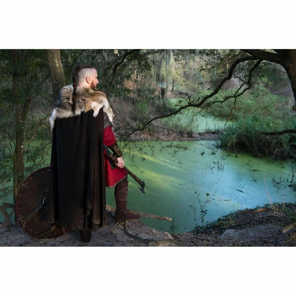 Krieger Haarbänder 2er Set - Viking Haarband - Ragnar Loðbrók Lederhaarband - Mittelalter Wikinger Keltisch Bild 1