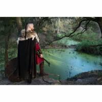Krieger Haarband - Ragnar Loðbrók - Schwarz Viking Haarbänder - Lederhaarband - Mittelalter Wikinger Keltisch Bild 1