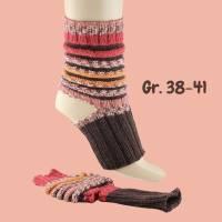 Handgestrickte Yogasocken Pilatessocken Tanzsocken Gymnastiksocken ohne Zehen ohne Ferse 38-41 Bild 1