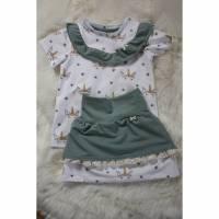 """Mädchen-Set T-Shirt und Rock """"Einhorn"""" Größe 104 Bild 1"""