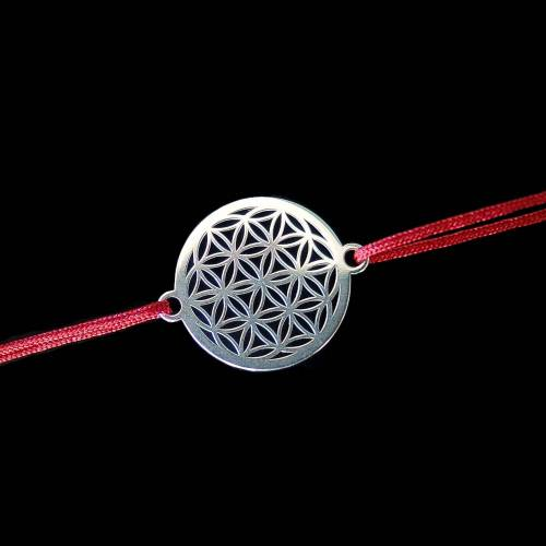 Schmuckteil Blume des Lebens 925 Silber 2 Ösen Lebensblume Mandala 15 mm klein Zwischenstück Amulett Armband