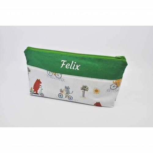 Kulturbeutel mit Fächern, Windeltasche, Wickeltasche, Kulturtasche für Kinder, waschbar, personalisierbar, Kindertasche, Täschchen