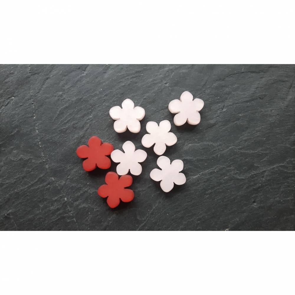 Abverkauf Restposten Polaris Perlen Blumen DIY Schmuckherstellung Bild 1