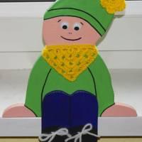 ♡ Kantenhocker oder Wandhänger Variante Wichtel (grün) ♡ amigoll9 ♡ Deko ♡ Handarbeit ♡