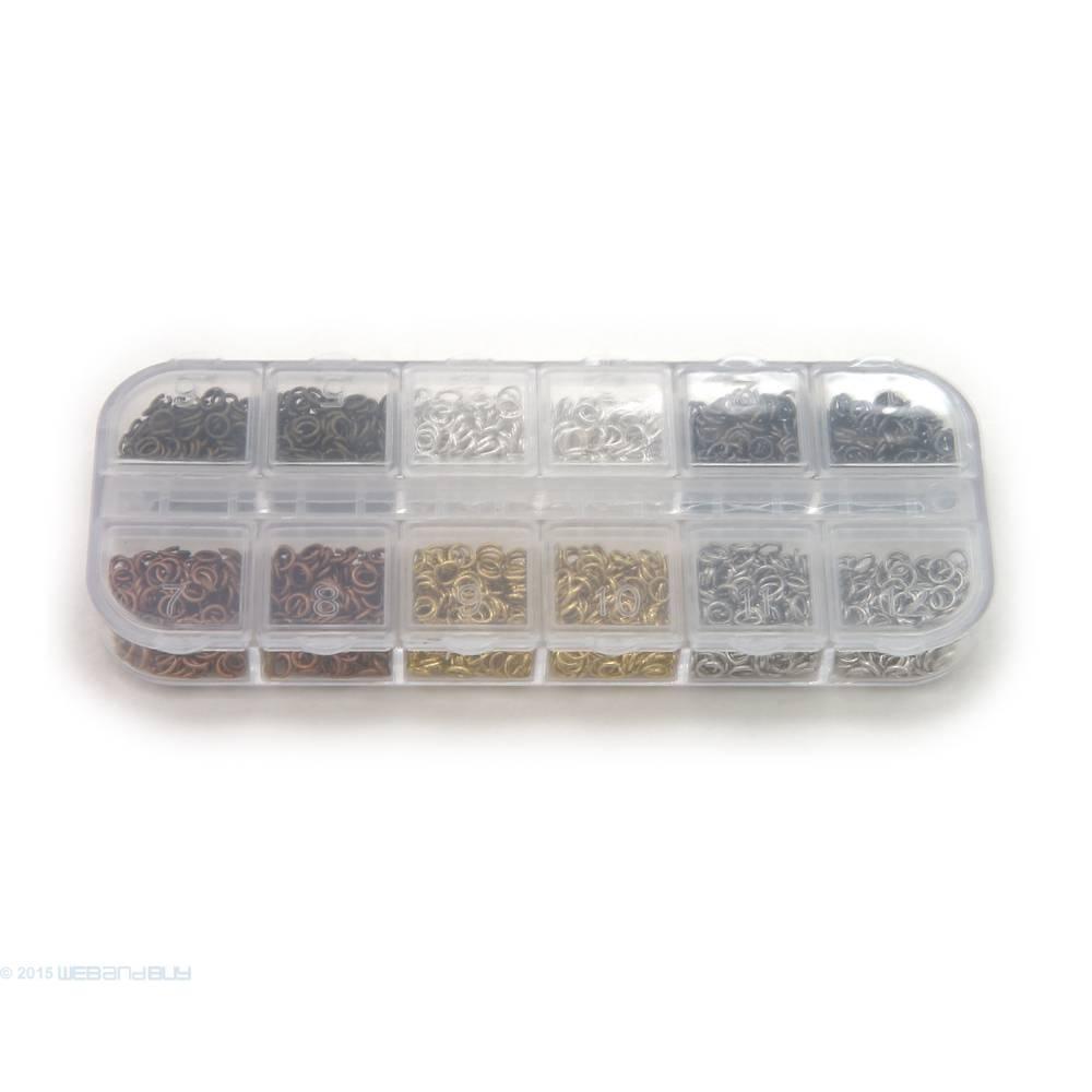Binderinge Set 4 mm Durchmesser verschiedene Farben ca.9g je Farbe Biegeringe Bild 1