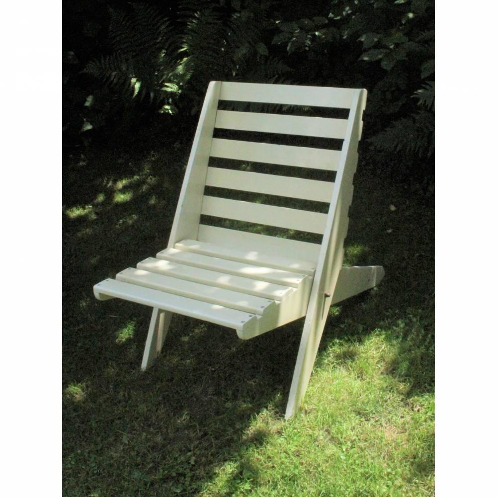seltene Vintage Klapp-Sessel Deck Chair Bild 1