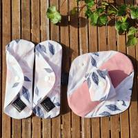 4er Set wiederverwendbare, waschbare Stoffbinden für Alternative zero waste Monatshygiene oder bei Inkontinenz Bild 1