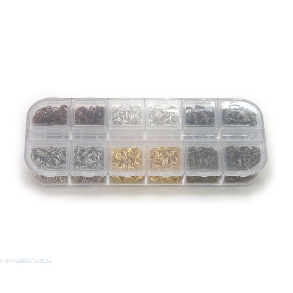 Binderinge Set 6 mm Durchmesser verschiedene Farben ca.9g je Farbe Biegeringe Bild 1