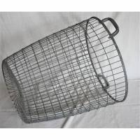großer Vintage Korb aus Metall Upcycling Bild 1