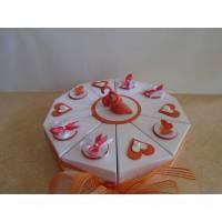 hochzeitstorte Geldgeschenk zur Hochzeit  Flamingo Schachteltorte Papiertorte give Away Torte Hochzeitsgeschenk Verpackung Hochzeitsverpackung Geldverpackung  Bild 1