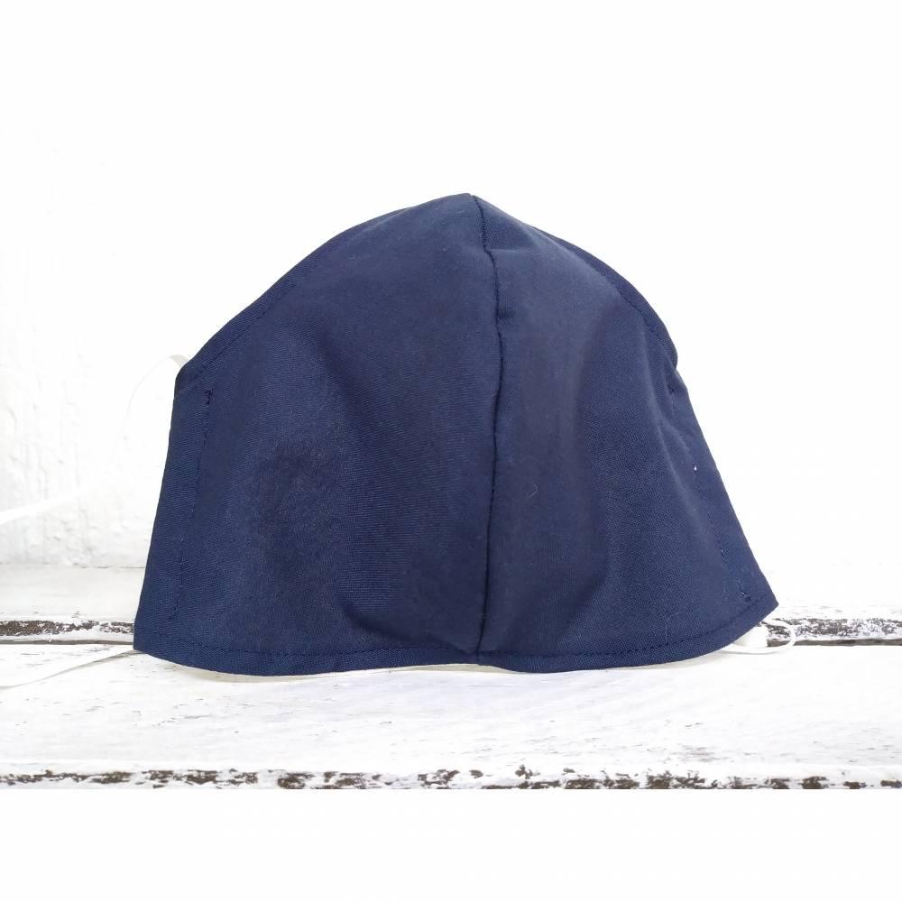 Mund-Nasen-Maske dunkelblau (M064) Bild 1