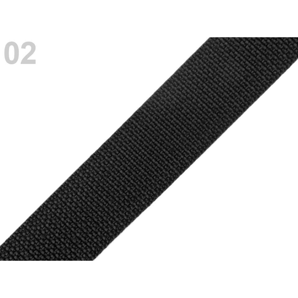 (0,50€/m) Gurtband Polypropylen 1 m schwarz Bild 1
