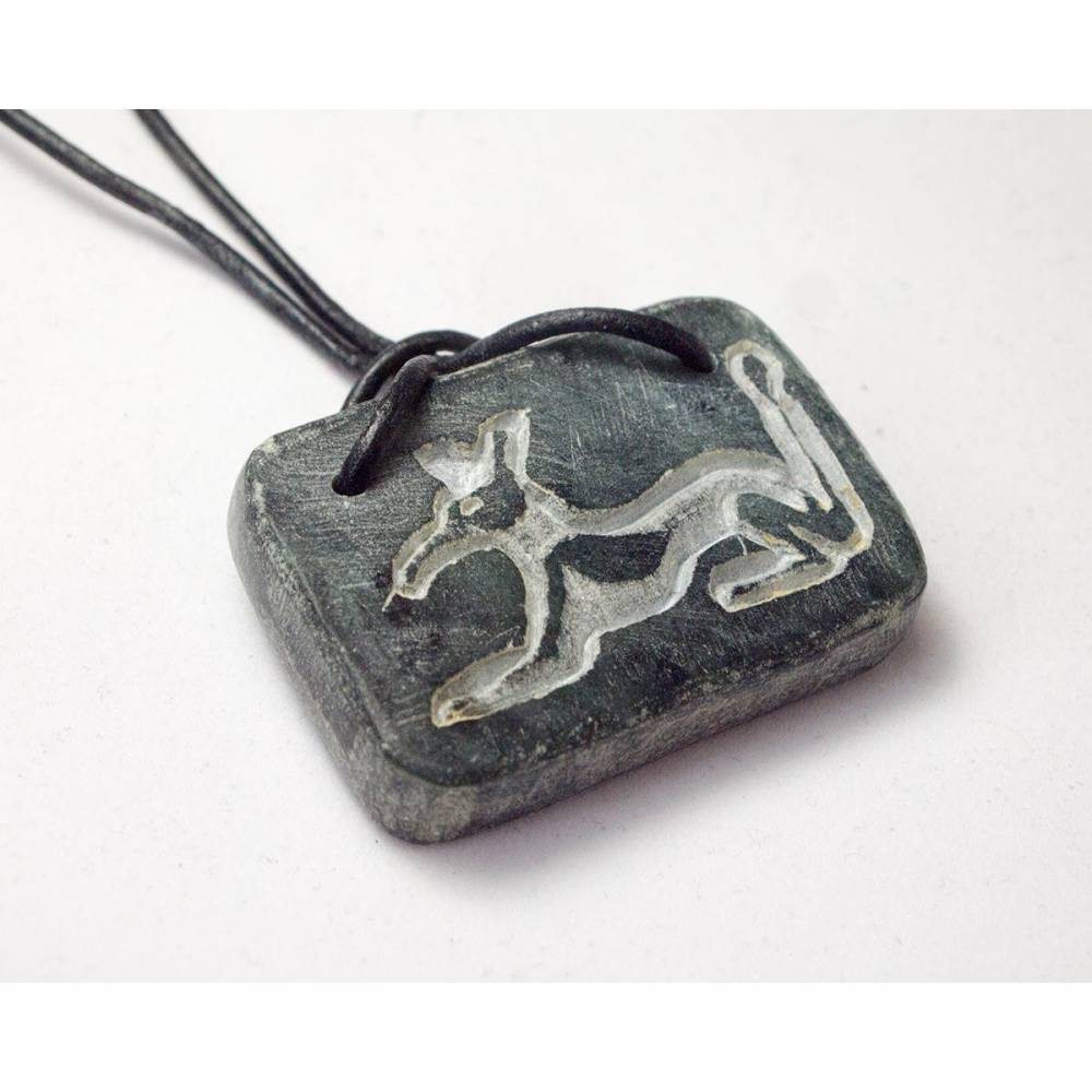 Seth's Amulett - Ägyptischer Schmuck aus Speckstein Bild 1