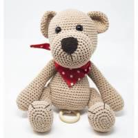 Spieluhr Teddybär mit Namensstickerei Bild 1