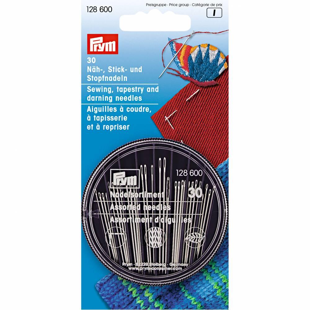 Prym Näh-, Stick- und Stopfnadeln in Compact-Dose, 30 Nadeln 128600 Bild 1