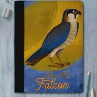 Falken Schreibmappe / Geschenk für Falken Freunde / Falken Fans / altägyptischer Falke mit Falken Schriftzug und Hieroglyphen Bild 1
