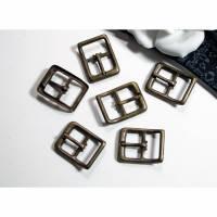 6 Schnallen 14mm Riemchenschnallen, Schuhschnalle, kleine Schnallen, bronzefarben, Trödel Dings da Bild 1