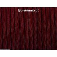Fallschirmschnur Fallschirmleine Parachute cord 4mm dick 2 Meter lang Farbe Bordeauxrot Bild 1