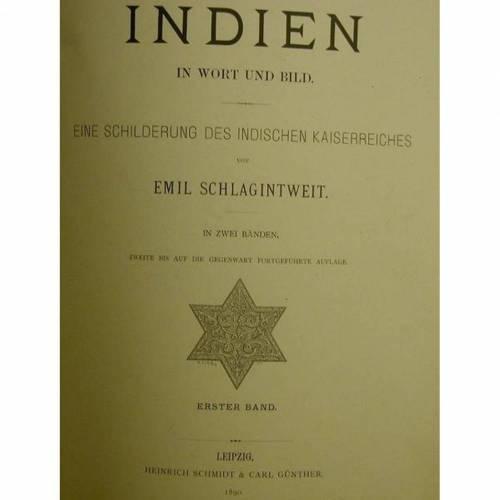Indien-in Wort und Bild- 1890- eine Schilderung des Indischen Kaiserreiches, 231 Seiten mit vielen Illustrationen.