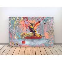 Collage NAPOLEON & DER GOLDFISCH Bild auf Holz Leinwand Print  Bild 1