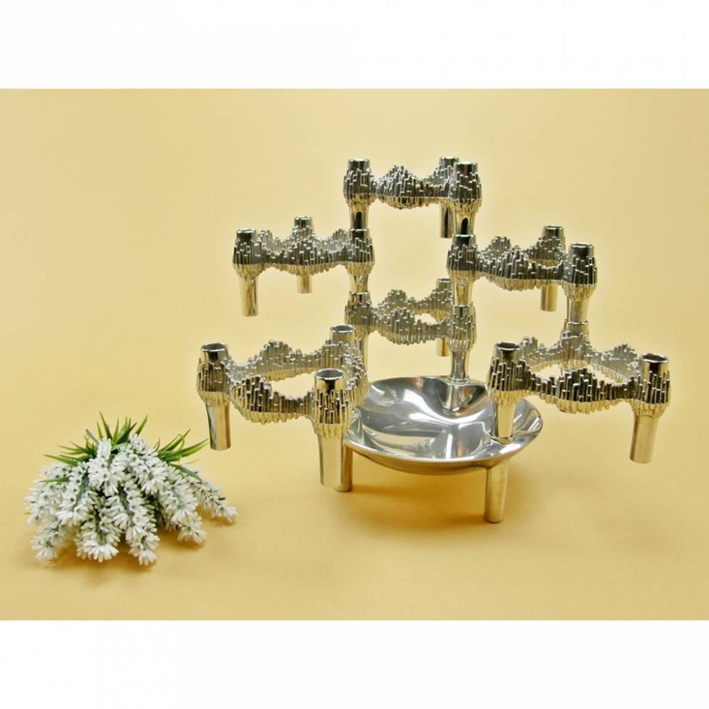 Vintage - Schale + 6 Kerzenhalter Nagel BMF Kerzenständer Quist Vario Bild 1