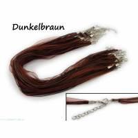 2 x Halskette Organzaband Schleifenband Schmuckband Kette * Farbe: Dunkelbraun * Bild 1