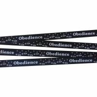 Obedience Webband Hund, Borte, schwarz, 20mm, Hundesport, 1 Meter Bild 1