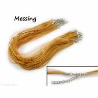 2 x Halskette Organzaband Schleifenband Schmuckband Kette * Farbe: Messing * Bild 1