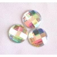 große Strass-Steine 20 mm bunt irisierend aufkleben 3, 6 oder 10 Stück Bild 1