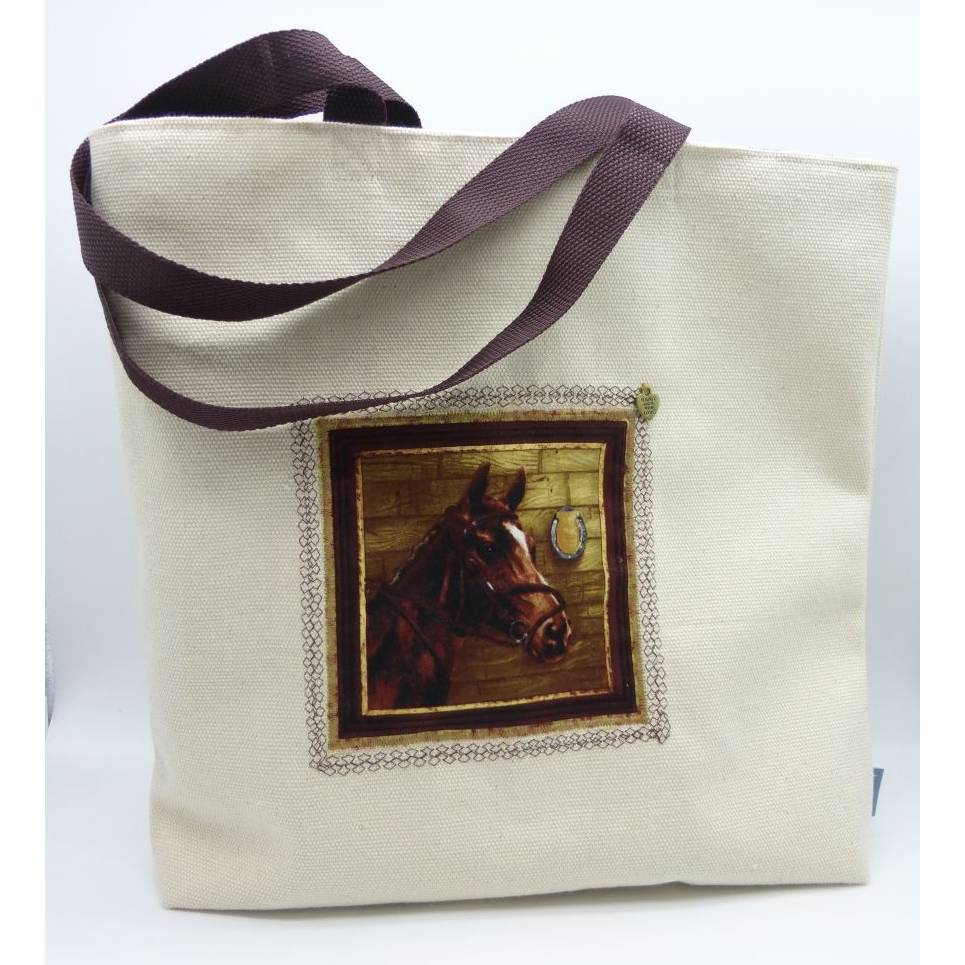 Shopper Pferd aus Canvas, gefüttert Bild 1